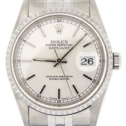 Mens Rolex Stainless Steel Datejust Silver  16220