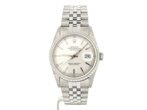 Rolex Stainless Steel Datejust 16220 Silver -10