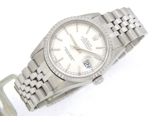 Rolex Stainless Steel Datejust 16220 Silver -8