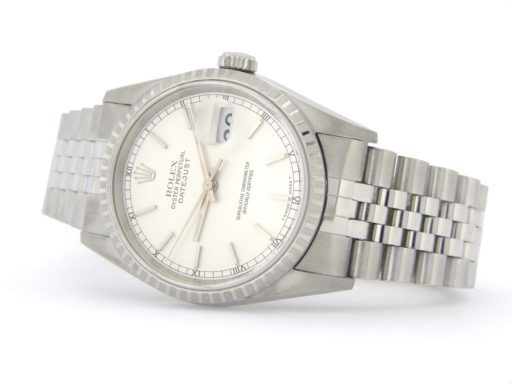 Rolex Stainless Steel Datejust 16220 Silver -7