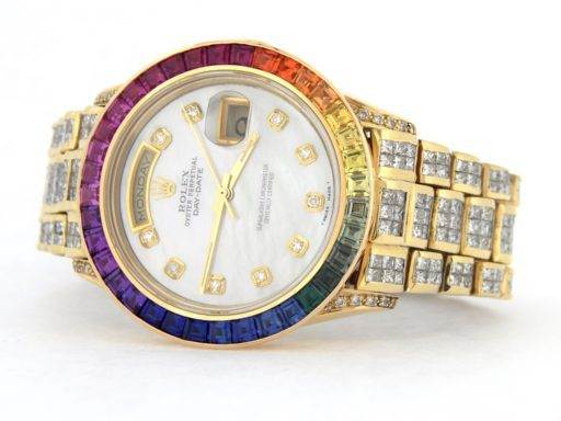 Rolex 18K Yellow Gold Day-Date President 18238 Full Diamond-10