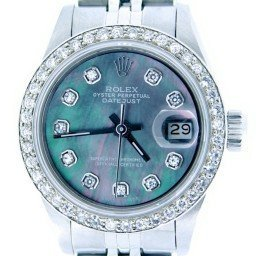 Ladies Rolex Stainless Steel Datejust Tahitian MOP Diamond (SKU DJ2207MT)