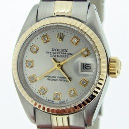 Ladies Rolex Two-Tone 14K/SS Datejust Silver Diamond 6917 (SKU 5431253MT)