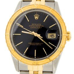 Pre Owned Mens Rolex Two-Tone Datejust with a Black Dial 16253 (SKU 9787729MT)