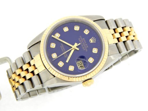 Rolex Two-Tone Datejust 16233 Blue Diamond-7