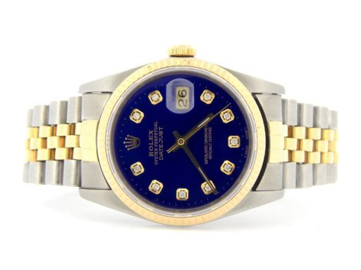 Rolex Two-Tone Datejust 16233 Blue Diamond-6