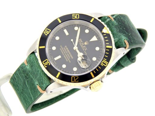 Rolex Two-Tone Submariner 16613 Black -6