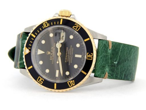Rolex Two-Tone Submariner 16613 Black -7
