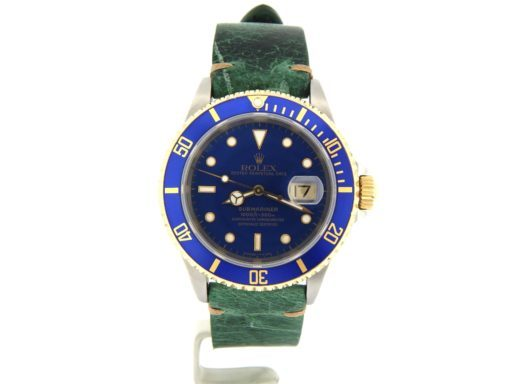 Rolex Two-Tone Submariner 16613 Blue -9