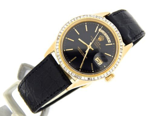 Rolex 18K Yellow Gold Day-Date President 1803 Black -10