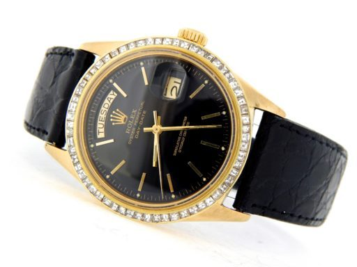 Rolex 18K Yellow Gold Day-Date President 1803 Black -9