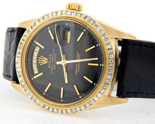 Rolex 18K Yellow Gold Day-Date President 1803 Black -7