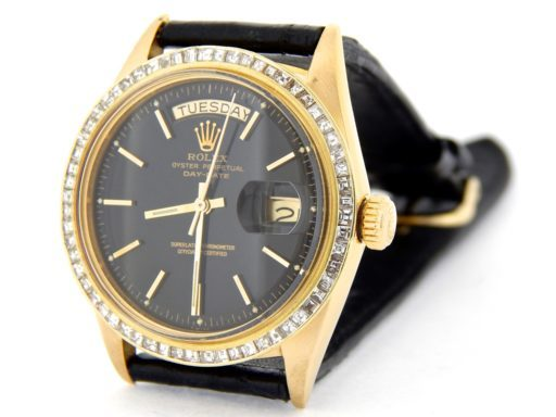 Rolex 18K Yellow Gold Day-Date President 1803 Black -8