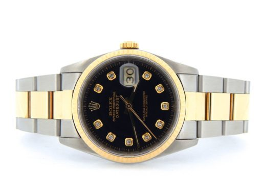 Rolex Two-Tone Datejust 16233 Black Diamond-6