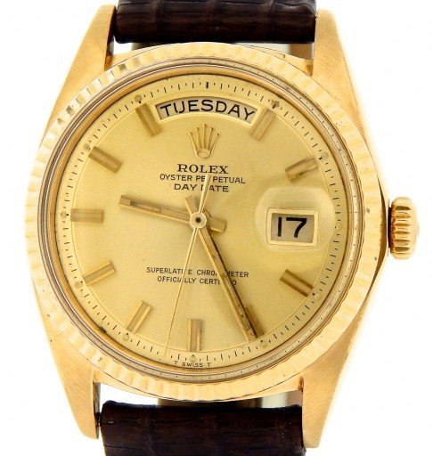 Rolex 18K Yellow Gold Day-Date President 1803 Champagne -1