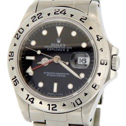 Mens Rolex Stainless Steel Explorer II Black  16570