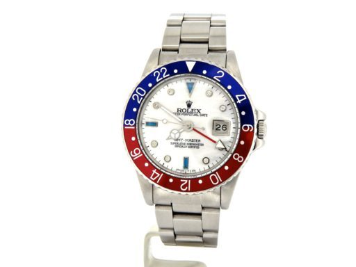 Rolex Stainless Steel GMT-Master 16750 Blue & Red Pepsi Diamond-7