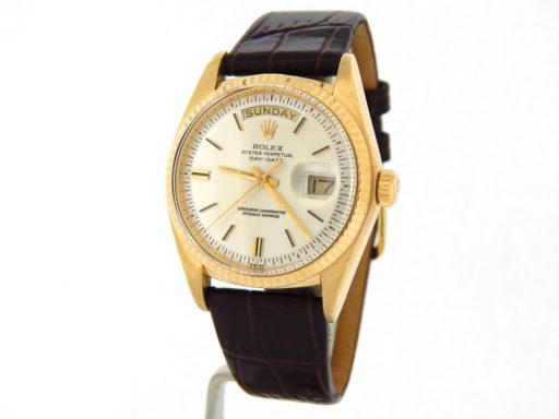 Rolex 18K Yellow Gold Day-Date President 1803 Silver -11