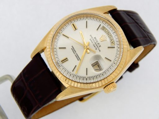 Rolex 18K Yellow Gold Day-Date President 1803 Silver -8