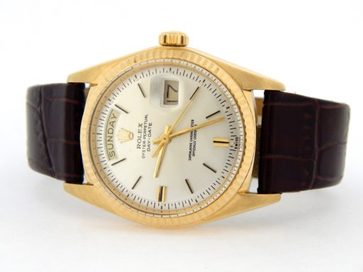 Rolex 18K Yellow Gold Day-Date President 1803 Silver -10