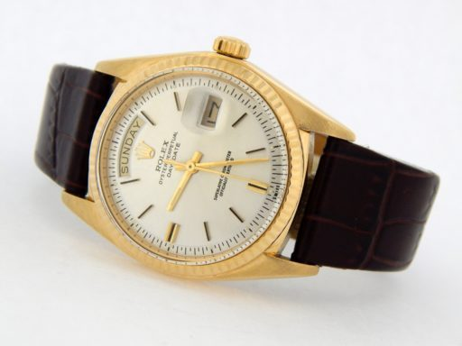 Rolex 18K Yellow Gold Day-Date President 1803 Silver -9