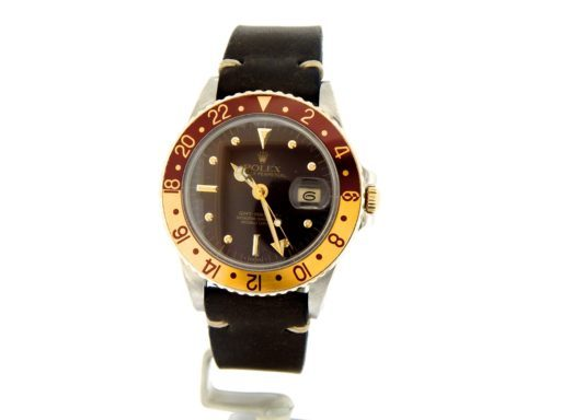 Rolex Two-Tone GMT-Master 16753 Brown Rootbeer Nipple-10