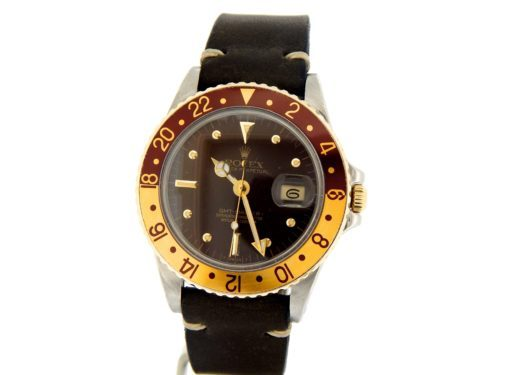Rolex Two-Tone GMT-Master 16753 Brown Rootbeer Nipple-9