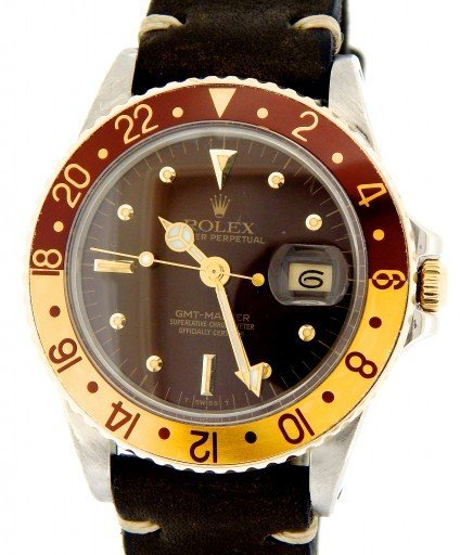 Rolex Two-Tone GMT-Master 16753 Brown Rootbeer Nipple-1