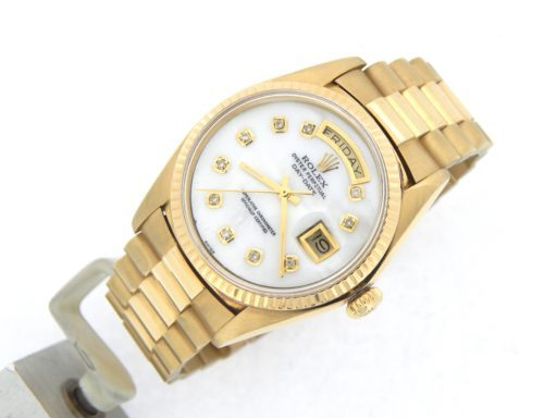 Rolex 18K Yellow Gold Day-Date President 1803 White MOP Diamond-7