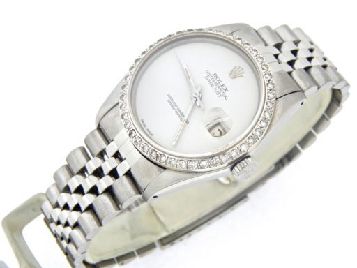 Rolex Stainless Steel Datejust 16030 White  Diamond-5