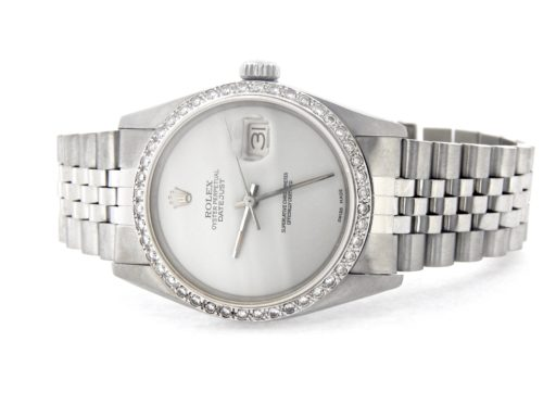 Rolex Stainless Steel Datejust 16030 White  Diamond-6