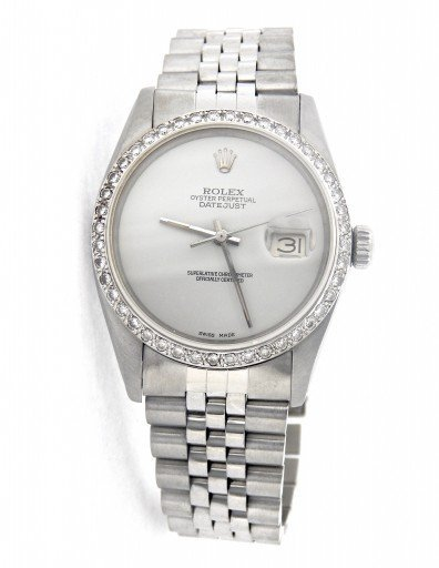 Rolex Stainless Steel Datejust 16030 White  Diamond-7