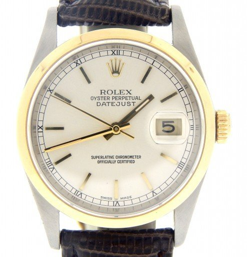 Rolex Two-Tone Datejust 16203 Silver -1