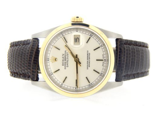 Rolex Two-Tone Datejust 16203 Silver -7