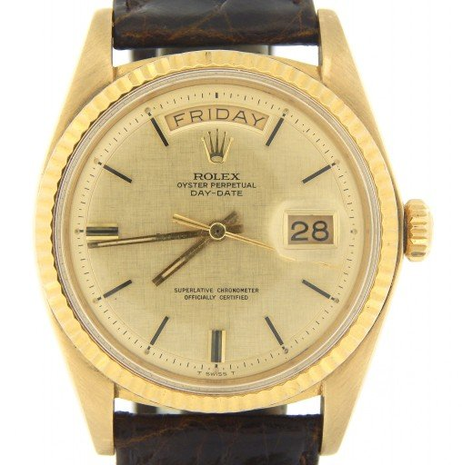 Rolex 18K Yellow Gold Day-Date President 1803 Champagne -10