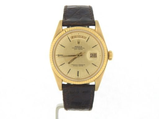 Rolex 18K Yellow Gold Day-Date President 1803 Champagne -9