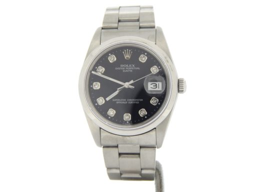 Rolex Stainless Steel Date 15200 Black Diamond-8