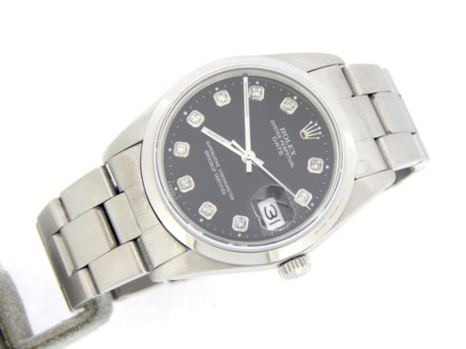 Rolex Stainless Steel Date 15200 Black Diamond-6