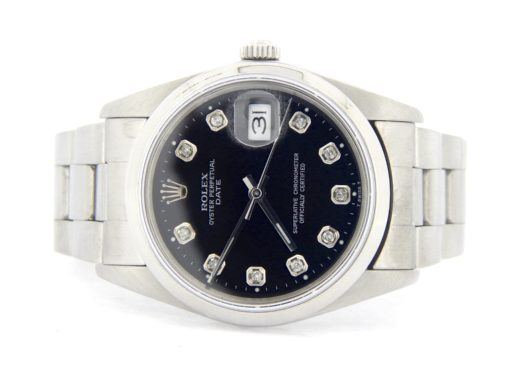 Rolex Stainless Steel Date 15200 Black Diamond-4