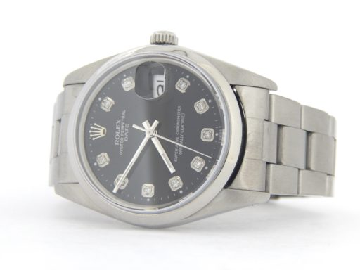 Rolex Stainless Steel Date 15200 Black Diamond-3