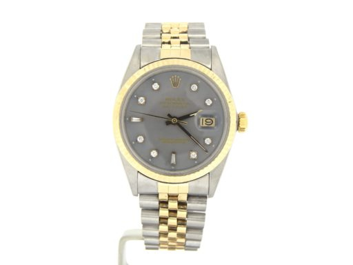 Rolex Two-Tone Datejust 16013 Gray Diamond-10
