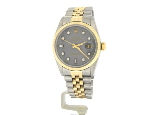 Rolex Two-Tone Datejust 16013 Gray Diamond-9