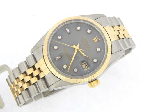 Rolex Two-Tone Datejust 16013 Gray Diamond-8