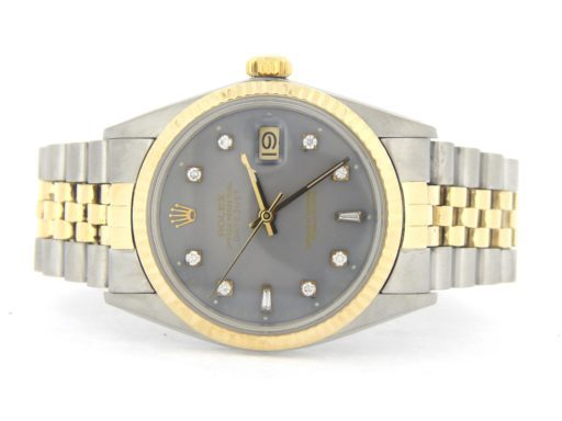 Rolex Two-Tone Datejust 16013 Gray Diamond-7