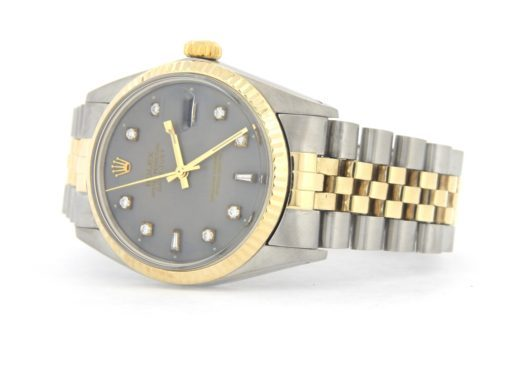 Rolex Two-Tone Datejust 16013 Gray Diamond-6