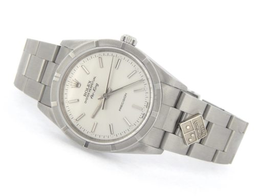 Rolex Stainless Steel Air-King 14010M Dominos Silver-8