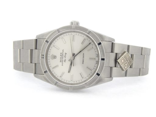 Rolex Stainless Steel Air-King 14010M Dominos Silver-7