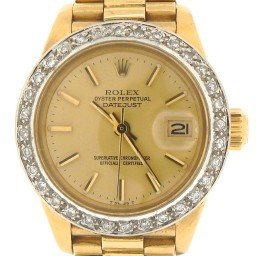 Ladies Rolex 18K Yellow Gold Datejust President Champagne  6917 (SKU 7136473MT)