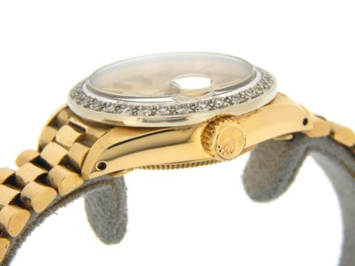 Rolex Yellow Gold Datejust President Diamond Champagne-5