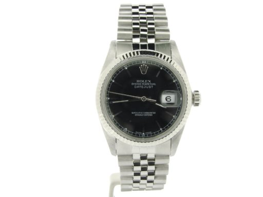 Rolex Stainless Steel Datejust 16014 Black -7
